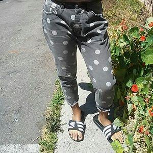 One x One Teaspoon Drop Crotch/Rise Dot Jeans 26